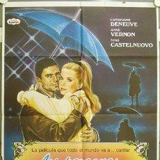 Cine: GF98 LOS PARAGUAS DE CHERBURGO JACQUES DEMY CATHERINE DENEUVE POSTER ORIGINAL 70X100 ESPAÑOL. Lote 11197620