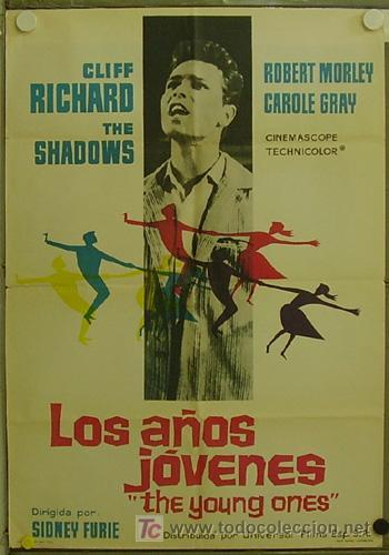 GD70 LOS AÑOS JOVENES CLIFF RICHARD POSTER ORIGINAL 70X100 ESTRENO (Cine - Posters y Carteles - Musicales)