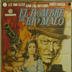 Cine: GD80 EL HOMBRE DE RIO MALO LEE VAN CLEEF GINA LOLLOBRIGIDA SPAGHETTI POSTER 70X100 ORIGINAL ESTRENO. Lote 10978810