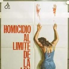 Cine: GE27 HOMICIDIO AL LIMITE DE LA LEY TONINO RICCI GIALLO POSTER ORIGINAL 70X100 ESTRENO. Lote 14088552