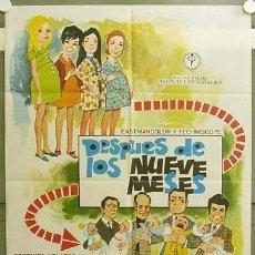 Cine: GE34 DESPUES DE LOS NUEVE MESES CONCHA VELASCO JUANJO MENENDEZ POSTER ORIGINAL 70X100 ESTRENO. Lote 10992199