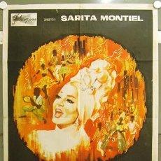 Cine: GH46 SAMBA SARA MONTIEL RAFAEL GIL POSTER ORIGINAL ARGENTINO 75X110. Lote 11265529