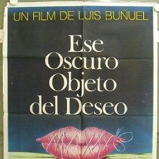 Cine: GH91 ESE OSCURO OBJETO DEL DESEO LUIS BUÑUEL POSTER ORIGINAL ARGENTINO 75X110. Lote 11265565