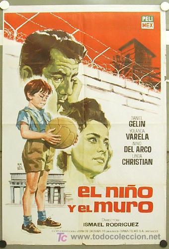 GI86 EL NIÑO Y EL MURO INMA DE SANTIS FUTBOL POSTER ORIGINAL 70X100 ESTRENO (Cine - Posters y Carteles - Deportes)