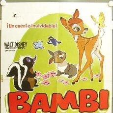 Cine: GI94 BAMBI WALT DISNEY POSTER ORIGINAL 70X100 ESPAÑOL. Lote 11283630