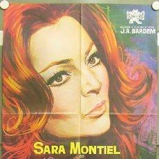 Cine: GJ06 VARIETES SARA MONTIEL BARDEM POSTER ORIGINAL 70X100 ESTRENO. Lote 11294300