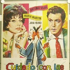 Cine: GJ05 CUIDADO CON LAS PERSONAS FORMALES ANTONIO VILAR MARIA MARTIN MAC POSTER ORIGINAL 70X100 ESTRENO. Lote 11294309
