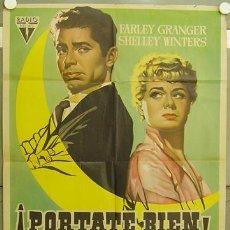 Cine: GJ79 PORTATE BIEN FARLEY GRANGER SHELLEY WINTERS CON PERRO POSTER ORIGINAL 70X100 ESTRENO. Lote 11342508