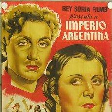 E238 LO QUE FUE LA DOLORES IMPERIO ARGENTINA BENITO PEROJO POSTER ORIGINAL ESTRENO 70X100 LITOGRAFIA