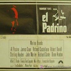 Cine: GN44 EL PADRINO MARLON BRANDO RARO POSTER ORIGINAL ESPAÑOL 55X70 ESTRENO. Lote 16839596