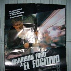 Cine: EL FUGITIVO HARRISON FORD POSTER ORIGINAL 70X100 Q. Lote 190194626