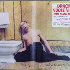 Cine: RF26D ANDY WARHOL BLOOD FOR DRACULA SANGRE PARA DRACULA SET DE 8 POSTERS ORIGINAL ITALIANO 47X68. Lote 13970910