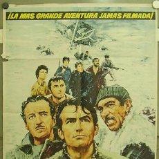 Cine: GP86 LOS CAÑONES DE NAVARONE GREGORY PECK POSTER ORIGINAL 70X100 ESTRENO. Lote 11856322