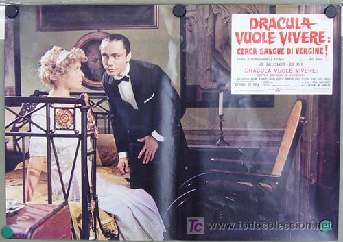 Cine: RF26D ANDY WARHOL BLOOD FOR DRACULA sangre para DRACULA SET de 8 POSTERS ORIGINAL ITALIANO 47X68 - Foto 3 - 13970910