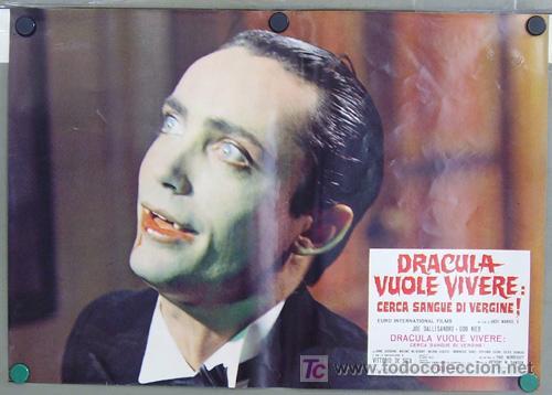 Cine: RF26D ANDY WARHOL BLOOD FOR DRACULA sangre para DRACULA SET de 8 POSTERS ORIGINAL ITALIANO 47X68 - Foto 2 - 13970910