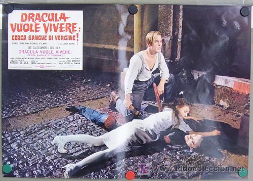 Cine: RF26D ANDY WARHOL BLOOD FOR DRACULA sangre para DRACULA SET de 8 POSTERS ORIGINAL ITALIANO 47X68 - Foto 8 - 13970910