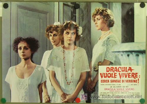 Cine: RF26D ANDY WARHOL BLOOD FOR DRACULA sangre para DRACULA SET de 8 POSTERS ORIGINAL ITALIANO 47X68 - Foto 7 - 13970910