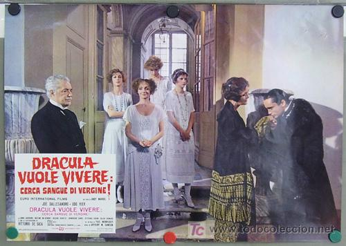 Cine: RF26D ANDY WARHOL BLOOD FOR DRACULA sangre para DRACULA SET de 8 POSTERS ORIGINAL ITALIANO 47X68 - Foto 6 - 13970910