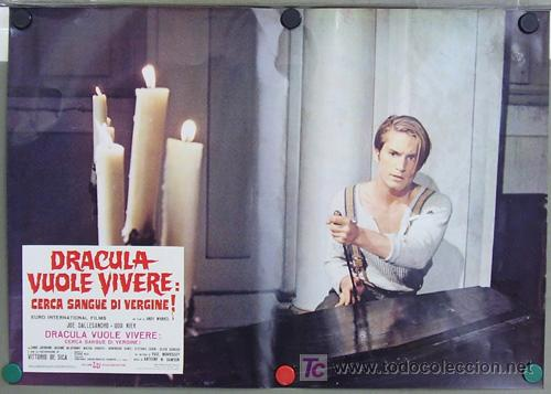 Cine: RF26D ANDY WARHOL BLOOD FOR DRACULA sangre para DRACULA SET de 8 POSTERS ORIGINAL ITALIANO 47X68 - Foto 5 - 13970910