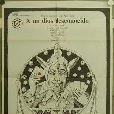 Cine: GQ09 A UN DIOS DESCONOCIDO JAIME CHAVARRI JOKER CRUZ NOVILLO POSTER ORIGINAL ESTRENO 70X100. Lote 11865736