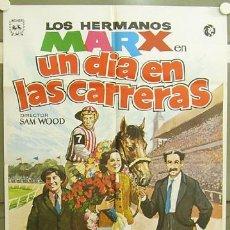 Cine: GQ94 UN DIA EN LAS CARRERAS HERMANOS MARX POSTER ORIGINAL 70X100 ESPAÑOL R-74. Lote 11873705