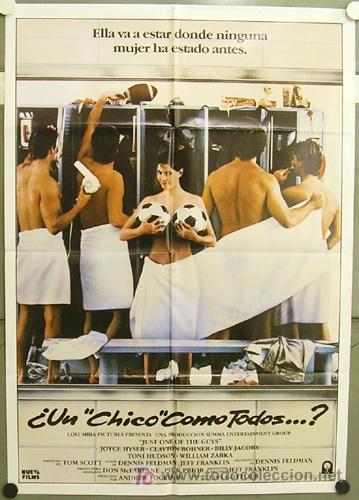 GQ76 UN CHICO COMO TODOS JOYCE HUSER FUTBOL POSTER ORIGINAL ESTRENO 70X100 (Cine - Posters y Carteles - Deportes)