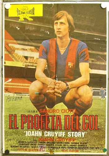GR27 EL PROFETA DEL GOL JOHAN CRUYFF STORY FUTBOL POSTER ORIGINAL 70X100 ESTRENO (Cine - Posters y Carteles - Deportes)
