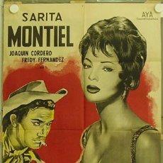 Cine: GR69 JIMMY SARA MONTIEL POSTER ORIGINAL ARGENTINO 75X110 LITOGRAFIA. Lote 11929588