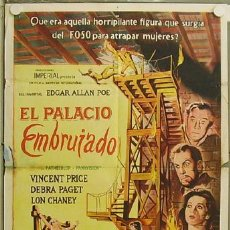 Cine: RE87D THE HAUNTED PALACE ROGER CORMAN VINCENT PRICE POE POSTER ORIGINAL ARGENTINO 75X110 LITOGRAFIA. Lote 11939446