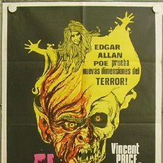 Cine: RE88D CRY OF THE BANSHEE VINCENT PRICE TERROR POSTER ORIGINAL ARGENTINO 75X110. Lote 13409893