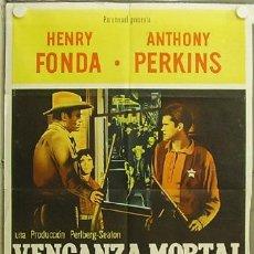 Cine: YY95D CAZADOR DE FORAJIDOS ANTHONY MANN HENRY FONDA ANTHONY PERKINS POSTER ORIGINAL ARGENTINO 75X110. Lote 11942721
