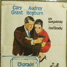 Cine: PB49D CHARADA AUDREY HEPBURN CARY GRANT STANLEY DONEN POSTER ORIGINAL FRANCES 60X80. Lote 11949585