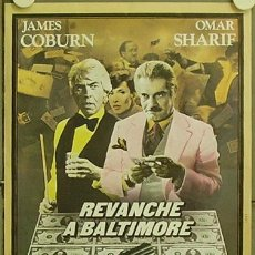 Cine: GS97 BALTIMORE BULLET JAMES COBURN BILLAR POSTER ORIGINAL FRANCES 40X53. Lote 11949750