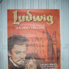 Cine: LUDWIG LUIS II DE BAVIERA LUCHINO VISCONTI ROMY SCHNEIDER POSTER ORIGINAL 70X100. Lote 288683853