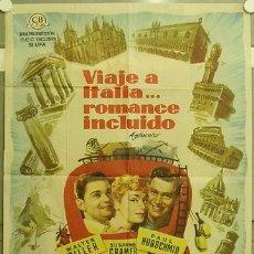 Cine: GT31 VIAJE A ITALIA ROMANCE INCLUIDO PAUL HUBSCHMID SUSANNE CRAMER POSTER ORIGINAL 70X100 ESTRENO. Lote 11960875