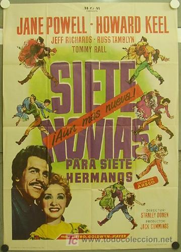 GT47 SIETE NOVIAS PARA SIETE HERMANOS STANLEY DONEN POSTER ORIGINAL 70X100 ESPAÑOL (Cine - Posters y Carteles - Westerns)