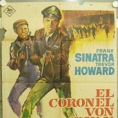 Cine: GT92 EL CORONEL VON RYAN FRANK SINATRA RAFFAELLA CARRA ALBERICIO POSTER ORIGINAL 70X100 ESTRENO. Lote 11964482