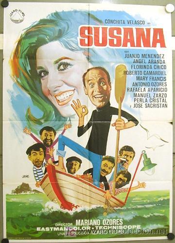 GU13 SUSANA CONCHA VELASCO JUANJO MENENDEZ POSTER ORIGINAL 70X100 ESTRENO (Cine - Posters y Carteles - Clasico Español)