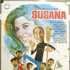 Cine: GU13 SUSANA CONCHA VELASCO JUANJO MENENDEZ POSTER ORIGINAL 70X100 ESTRENO. Lote 11973926