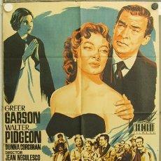 Cine: GU40 LA SEÑORA CHESNEY GREER GARSON WALTER PIDGEON JANO POSTER ORIGINAL 70X100 ESTRENO LITOGRAFIA. Lote 11978560