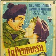 Cine: GU70 LA PROMESA GLYNIS JOHNS SOLIGO POSTER ORIGINAL ESTRENO 70X100 LITOGRAFIA. Lote 11980208