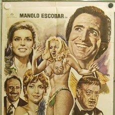 Cine: GV18 PRESTAMELA ESTA NOCHE MANOLO ESCOBAR ANTONIO GARISA POSTER ORIGINAL 70X100 ESTRENO. Lote 11992607