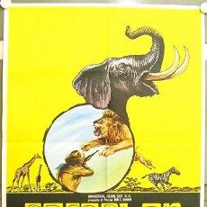 Cine: GV40 SAFARI EN AFRICA RON E. SHANIN DOCUMENTAL POSTER ORIGINAL 70X100 ESTRENO. Lote 11993959