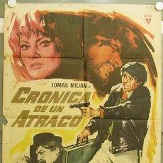 Cine: GV71 CRONICA DE UN ATRACO TOMAS MILIAN ANITA EKBERG FERNANDO SANCHO POSTER ORIGINAL 70X100 ESTRENO. Lote 11994580