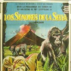 Cine: GV65 LOS SEÑORES DE LA SELVA POSTER ORIGINAL 70X100 ESTRENO LITOGRAFIA. Lote 11994807