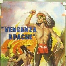 Cine: RQ92D VENGANZA APACHE RAFAEL BALEDON MAURICIO GARCES ABEL SALAZAR INDIOS POSTER ORIG 70X100 ESTRENO. Lote 11996453