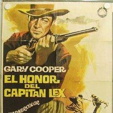 Cine: GW08 EL HONOR DEL CAPITAN LEX GARY COOPER JANO POSTER ORIGINAL 70X100 ESPAÑOL R-66. Lote 12034479