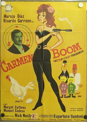 GW02 CARMEN BOOM MARUJITA DIAZ POSTER ORIGINAL ESTRENO 70X100 (Cine - Posters y Carteles - Clasico Español)