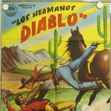 Cine: ZS23D LOS HERMANOS DIABLO ABEL SALAZAR MAURICIO GARCES RAFAEL BALEDON POSTER ORIGINAL 70X100 ESTRENO. Lote 12034806