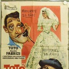 Cine: GW03 TOTO FABRIZI Y LOS JOVENES DE HOY TOTO ALDO FABRIZI POSTER ORIGINAL 70X100 ESTRENO. Lote 12034880